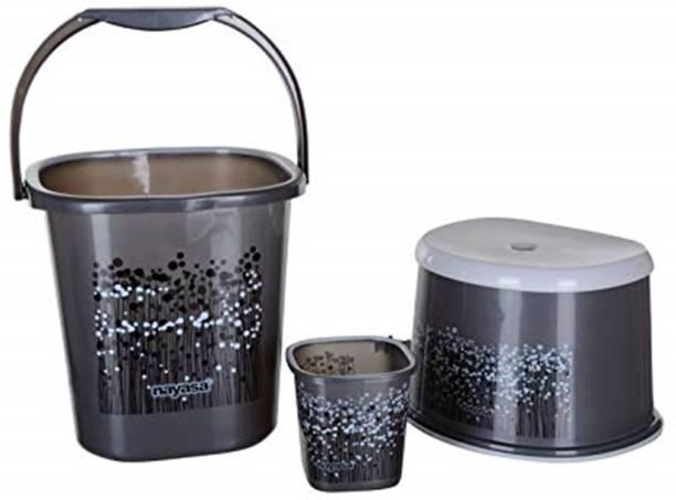 NAYASA 25L BUCKET, MUG AND STOOL SET 25 L Plastic Bucket