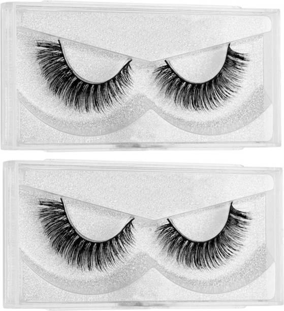 BELLA HARARO Black Handmade Natural 3D Thick Long False Eyelashes, 3D Eye lash