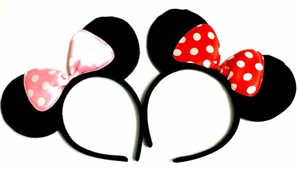 ANNA CREATIONS kids baby girls MOUSE EAR headbands Costume Parties, Cosplay, Theme Hair Band