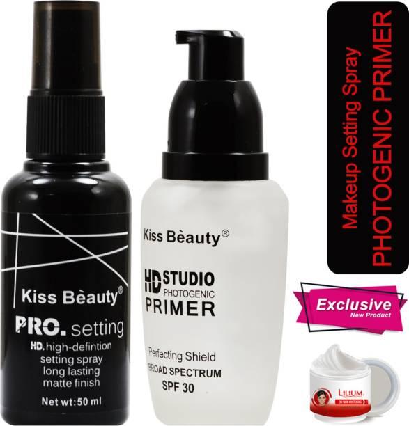 Kiss Beauty Pro Setting HD Studio Primer SPF30-58367AB With Skin Whitening Cream Primer  - 40 ml
