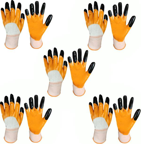 PulGos SUPERIOR QUALITY ANTI CUT SAFETY HAND GLOVE-005 Nylon, Synthetic, Latex  Safety Gloves