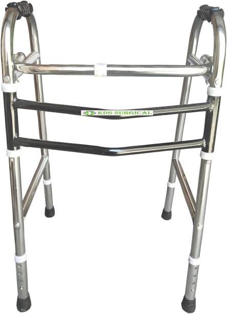 KDS SURGICAL Black And Steel Walker Walking Stick