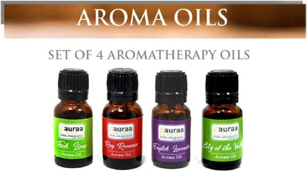 Asian Aura LILY OF THE VALLEY, ROSY ROMANCE, FRESH LIME, ENGLISH LAVENDER Aroma Oil