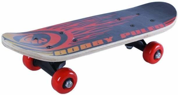 Pankhudi Skating Board 17.5 x 4 inch Skateboard for Kids Age 3-12 Years (Random Color) 17.5 inch x 4 inch Skateboard