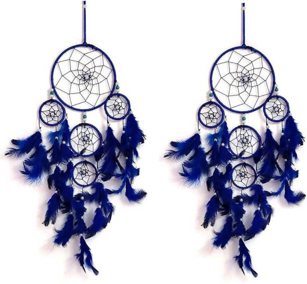 Kraft Village Dream Catcher of Multi Round for Attract Positive Dreams Wool Dream Catcher