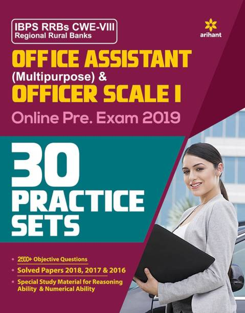 30 Practice Sets Ibps Rrbs Cwe-VII Office Assistant Multipurpose and Officer Scale-I Pre Exam 2019