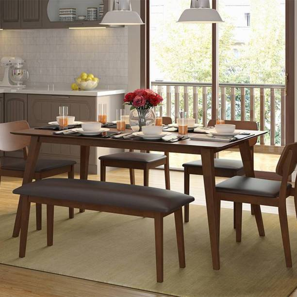 Urban Ladder Lawson Solid Wood 6 Seater Dining Table