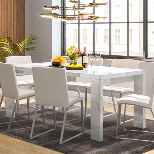 Urban Ladder Kariba High Gloss Engineered Wood 6 Seater Dining Table