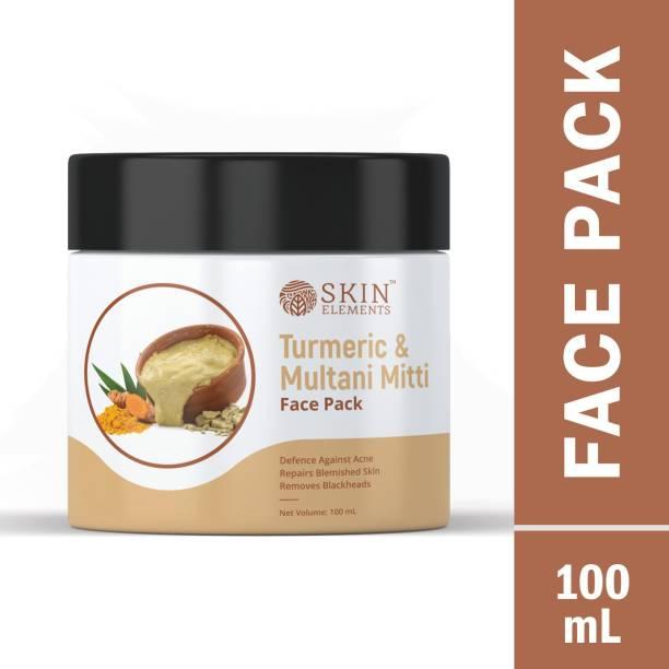Skin elements Turmeric & Multani Mitti Face Pack for Acne Treatment & Blackheads removal