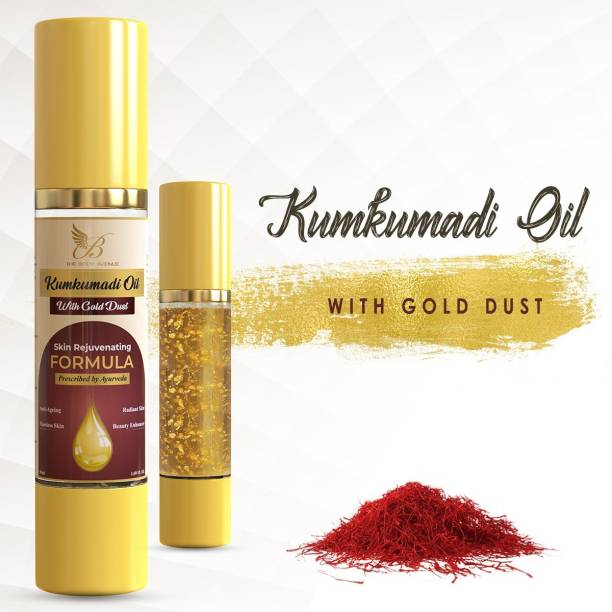 The Body Avenue Kumkumadi Oil Enriched with Gold Dust for Skin