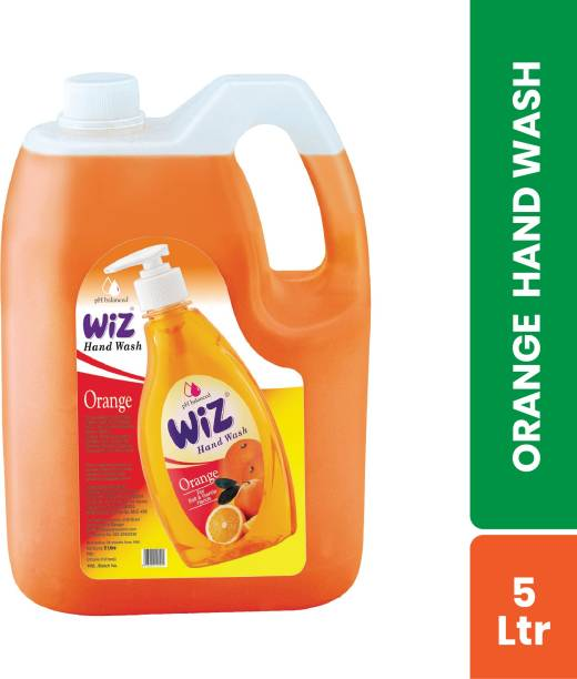 Wiz pH-Balance Extra Moisturizing Orange Liquid Handwash, Give Complete Protection for Soft & Gentle Hands, Refill Pack Hand Wash Can