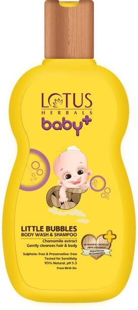 LOTUS HERBALS Little Bubbles Body Wash and Shampoo