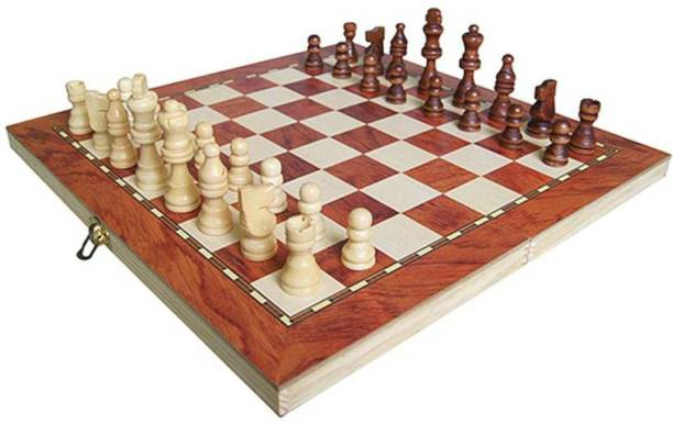 CrazyCrafts wooden 3 in 1 chess board Big Strategy & War Games Board Game