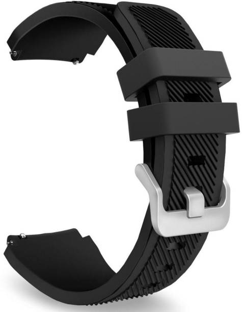 CellFAther Sports Silicone Classic Bracelet Watch Band for Samsung Gear S3 Frontier / S3 Classic Band 22mm( Watch Not Including ) Black Smart Watch Strap