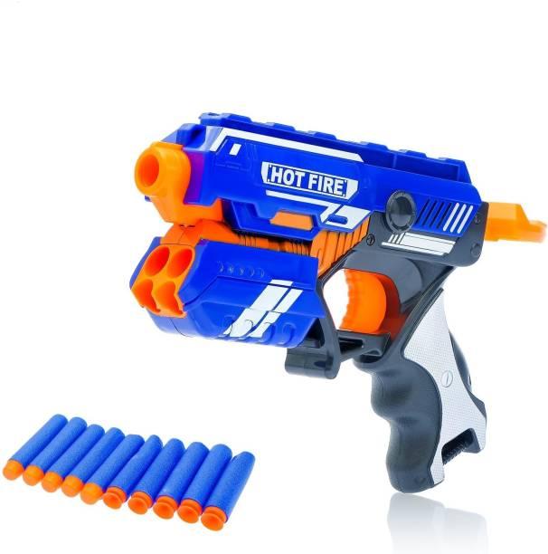 FIDO Blaze Storm Manual Soft Bullet Gun with 10 Soft bullets Guns & Darts