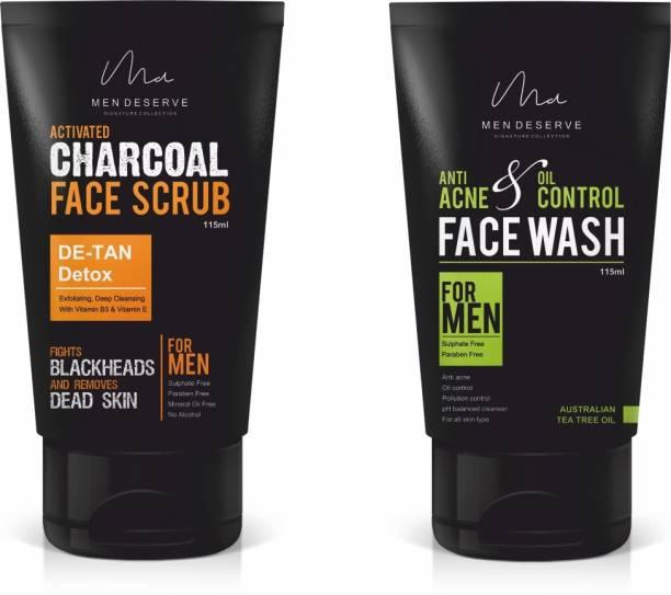 Men Deserve Acne Control Combo for Men (115ml) (Pack of 2)