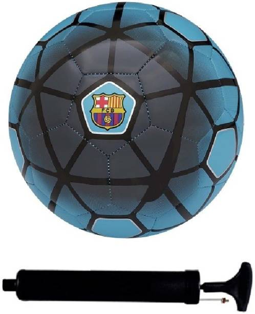 AkshMall Kit of Blue Football (Size-5) with Air Pump & Needle Football Kit