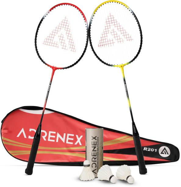 Adrenex by Flipkart R201 Combo - 2 Badminton Racquet with Shuttle Badminton Kit