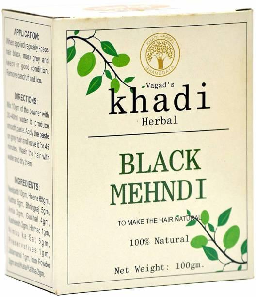 vagad's khadi Khadi-Hair-Color-Black Natural Mehendi