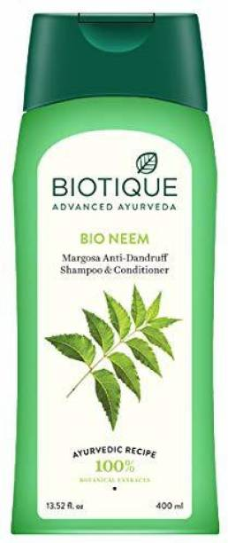 BIOTIQUE Bio Neem Margosa Anti-Dandruff Shampoo and Conditioner 400 ml