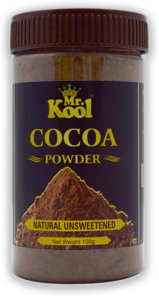 Mr.Kool 100% Natural Cocoa Powder | Natural Cocoa Milkshake Powder 100g For Cake,Milksahake and Cookies Cocoa Powder