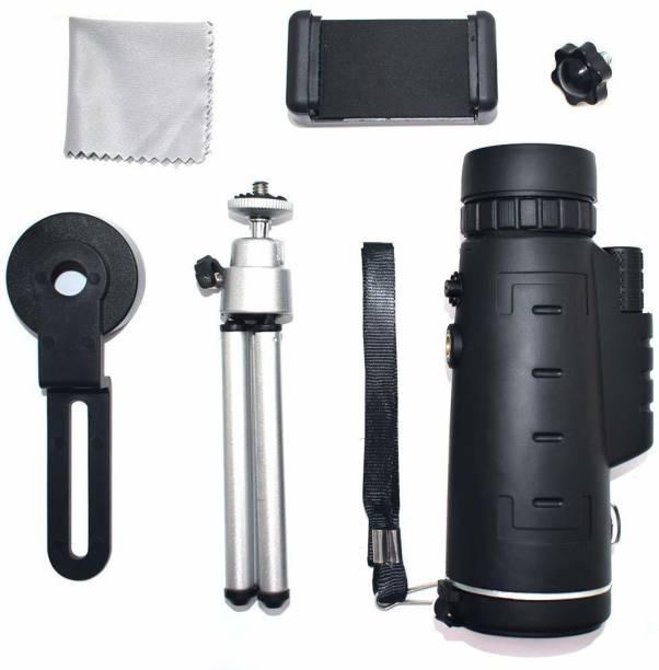 COMET HD 8X42 Compact Lightweight Pocket Mobile Phone Monocular Telescope with Tripod Adaptable Monocular