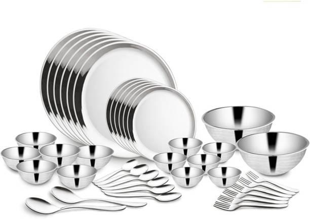 Shri & Sam Pack of 40 Stainless Steel DINNER_2 Dinner Set