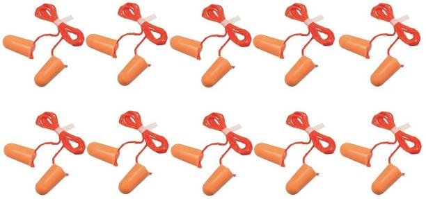 Healthy18 3M 1110 Corded Foam, Noise Reduction Ear Plugs (Orange) - Pack of 10 Ear Plug