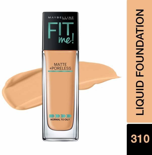MAYBELLINE NEW YORK Fit Me Matte+Poreless Liquid Foundation, 310 Sun Beige, 30ml Foundation