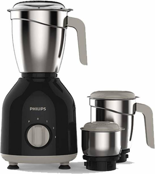 PHILIPS (HL7756) 750 Mixer Grinder (3 Jars, Black)