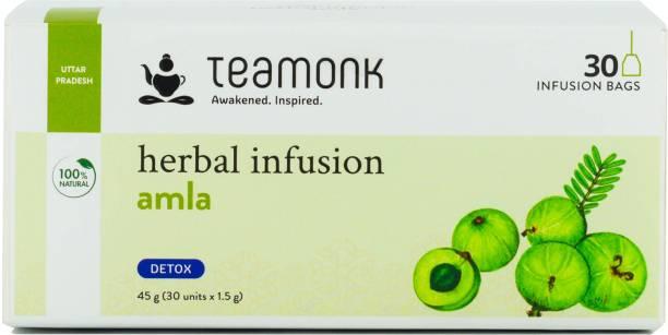 Teamonk Amla Herbal Infusion Tea ,30 Tea Bags Amla Herbal Infusion Bags Box