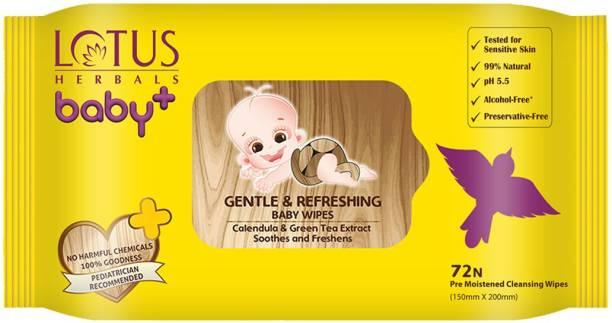 LOTUS HERBALS Gentle & Refereshing Baby Wipes