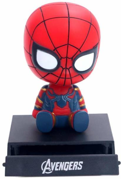 AweStuffs Marvel Avengers Infinity War Spiderman Phone Holder Car Decoration Bobblehead Action Figure