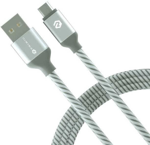Primiu 6 ft long Nylon Braided Tough 2.8 A 1.8 m Micro USB Cable