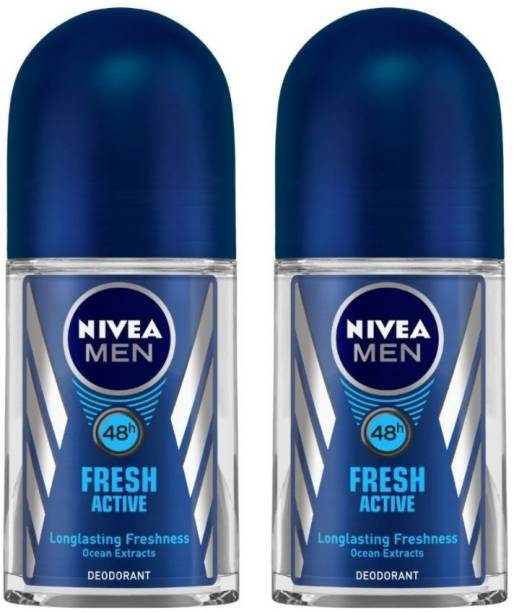 NIVEA Fresh Active Deodorant Roll-on  -  For Men