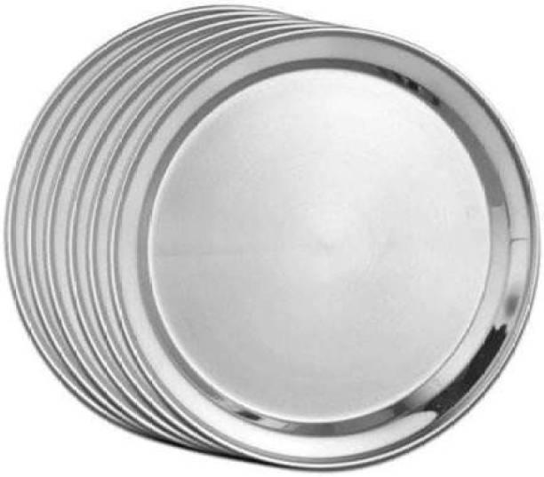 Shri & Sam High Grade Stainless Steel Majestic Side Plate 6 PCS - Dinner Plate