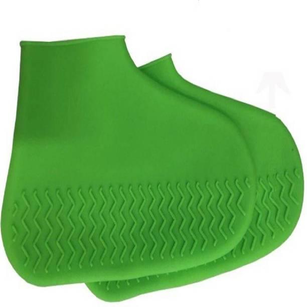 Aksvita WATERPROOF SILICON SHOES COVER ANTI SLIP Silicone green Boots Shoe Cover, Toes Shoe Cover, Flat Shoe Cover, High Ankle Shoe Cover
