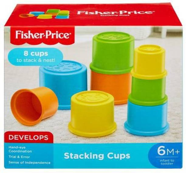 FISHER-PRICE Original Stacking Cups, Colourful Stacking Toys, Develops Hand-Eye Coordination