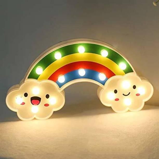 Satyam Kraft 1 pcs Rainbow Shape LED Marque Light Table Lamp