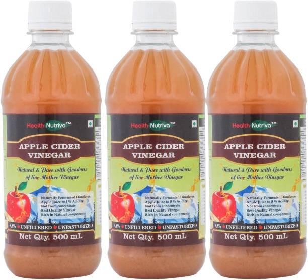 HealthNutriva Organic Apple Cider Vinegar | with Strands of Mother | Raw,Unfiltered,Undiluted | Vinegar