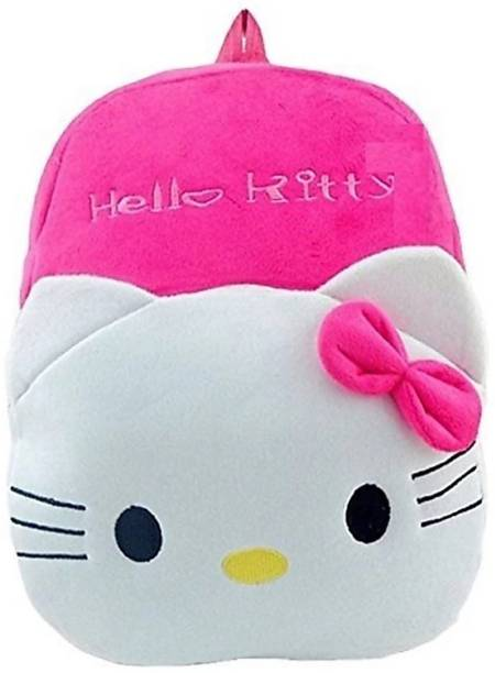 3G Collections kitty Teddy Bear Soft Toy Kids Plush Bag/ Backpack Bag/ School Bag/ Carry Bag/ Picnic Bag/ Teddy Bag Waterproof School Bag