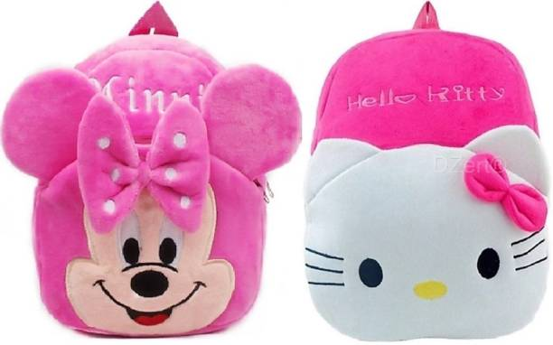 3G Collections Minnie & KittySchool Bag/ Teddy Bag For Age 2-6yrs-Pack of 2 Waterproof School Bag