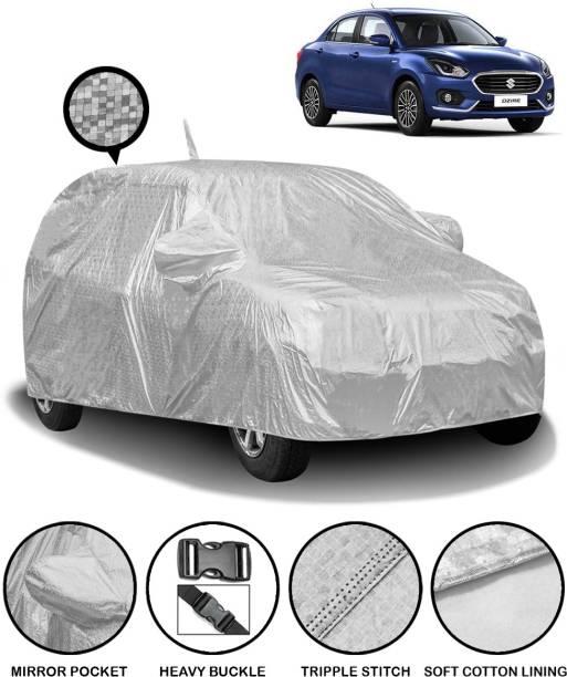 FABTEC Car Cover For Maruti Suzuki Swift Dzire (With Mirror Pockets)