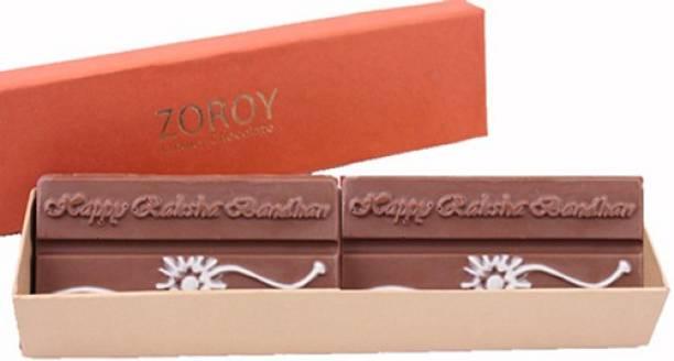 Zoroy Luxury Chocolate Long box with 2 Milk Chocolate Bar saying Bars