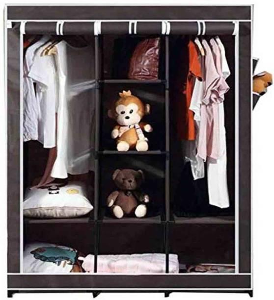 GTC 6+2 Shelves 3 door 88130 Carbon Steel Collapsible Wardrobe