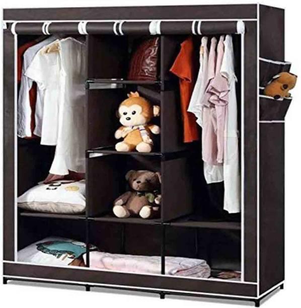 CONTINENTAL 6+2 Shelves 3 door 88157 Carbon Steel Collapsible Wardrobe