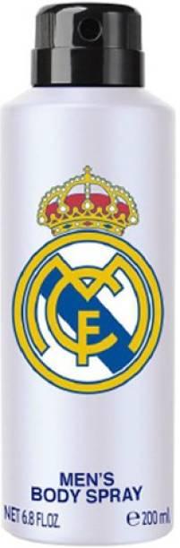 Real Madrid White Deodorant For Unisex Body Spray  -  For Men & Women