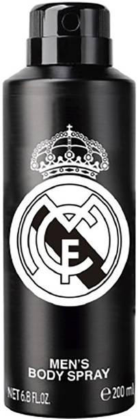 Real Madrid Black Deodorant Body Spray  -  For Men & Women