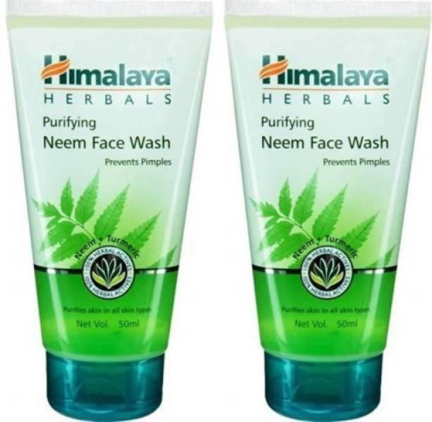 HIMALAYA Herbals Purifying Neem ,50*2 PACK OF 2 Face Wash