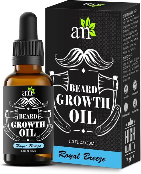 aromamusk 100% Natural Beard & Hair Growth Oil Royal Breeze, (With Goodness Of Argan, Jojoba & Vitamin E Oil ) Hair Oil